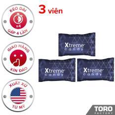 [Hiệu quả hơn 40% kẹo Hamer] Bộ 3 Kẹo Sâm Ultimate Xtreme Flavor (Mỹ) Kéo dài thời gian quan hệ cho Nam Giới 3 viên – Toro