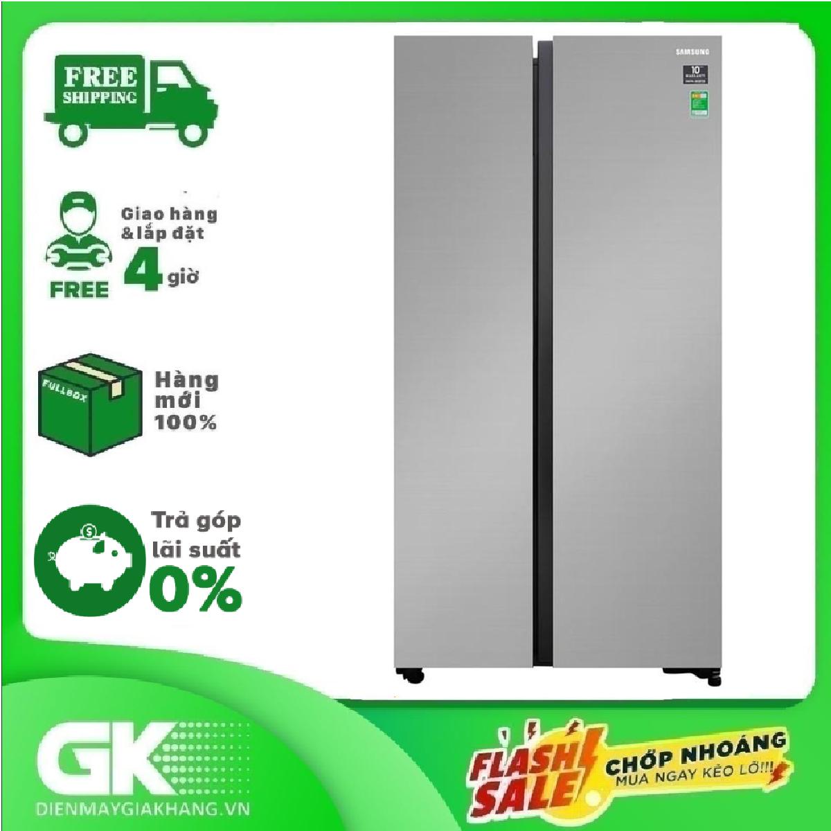 TRẢ GÓP 0% – Tủ lạnh Samsung Inverter 647 lít RS62R5001M9/SV