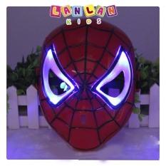 Mặt nạ người Nhện có đèn led và nhạc. đồ chơi mặt nạ siêu anh hùng dành cho bé
