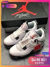 ( FULL BOX) Giày thể thao nam nữ Air Jordan 4 Retro pure money năng động êm ái