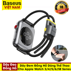Dây đeo thể thao dành cho Đồng Hồ Apple 5 44Mm 40Mm , Đồng Hồ Apple 38Mm 42Mm ,IWatch 5 4 3 2 Dây Đeo (Baseus Let's go Cord Watch Strap for Apple Watch)