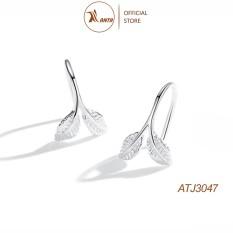 Bông tai bạc 925 kiểu dáng thiết kế hình lá cây phong cách Hàn Quốc ANTA Jewelry – ATJ3047