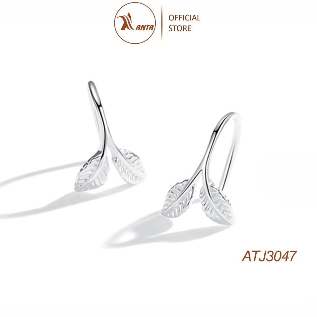 Bông tai bạc 925 kiểu dáng thiết kế hình lá cây phong cách Hàn Quốc ANTA Jewelry - ATJ3047
