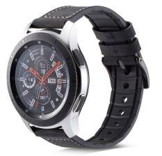 Dây da hybrid cao cấp đồng hồ thông minh ( kết hợp da và silicon kèm chốt thông minh) (galaxy watch, huawei watch, ticwatch…)