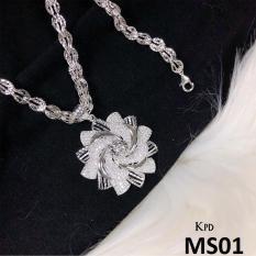 Bộ dây chuyền và mặt bạc cao cấp MS01