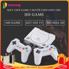 Máy chơi game điện tử 4 nút 600 trò chơi Gamestation, máy trò chơi cổ điển OINY ONE cống AV kết nối tivi( Bảo hành 2 năm lỗi 1 đổi 1 trong 7 ngày )