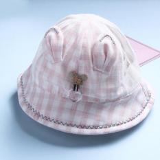 Mũ Vải Vành Rộng Tai Thỏ Cho Bé Gái (Nón vải, mũ vải bé gái)