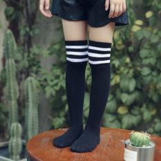 1 đôi vớ (tất) , dày giữ ấm, dài cao đẹp dễ thương CUTE, phong cách Nhật Bản chất lượng dành cho bé gái (3 đến 6 tuổi) _ (6 đến 12 tuổi) Sọc ngang trắng– VDSN (T)