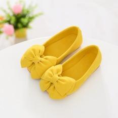 1 cặp Công Chúa Bé Gái Giày Nơ Phẳng Giày Tập Đi Trẻ Em Hoa-quốc tế