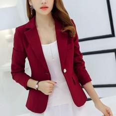 Amart Thời Trang Hàn Quốc Nữ Slim Áo Phù Hợp Với Mặc hàng Công Sở Áo Khoác Áo 1 Nút Bấm Chính Thức Phối Trang Phục- quốc tế