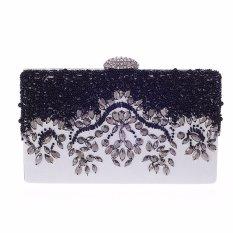 Amart Women Clutch Bag Rhinestone Metal Chain Style Lady Evening Bag Phone Bag – intl