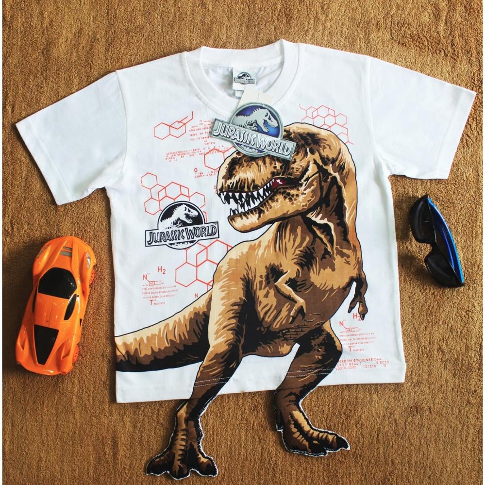 Áo bé trai khủng long 3D in nổi