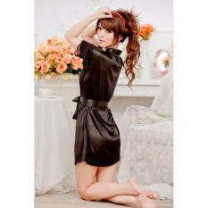 Áo choàng mặc ngủ satin (đen) – DN033B