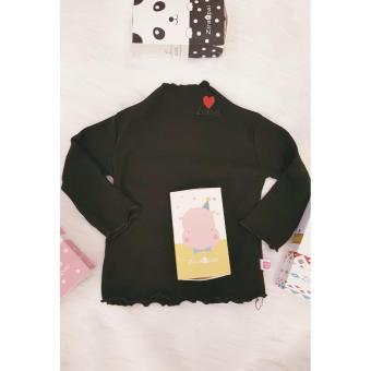 Giảm Giá Áo cotton len bé gái cổ xoắn  Shop Nhà Bông 1