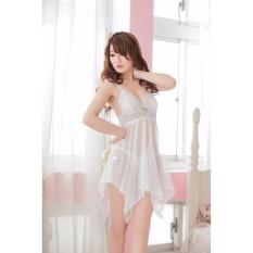 Áo đầm ngủ Von Lưới CDAN01 (trắng)
