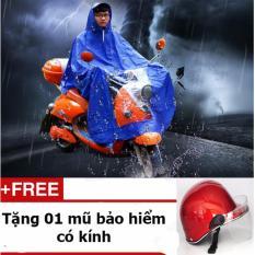 Áo đi mưa loại phổ biến nhất thị trưởng + Tặng 01 mũ bảo hiểm có kính
