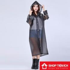 Mengsha's Transparent Fashionable EVA Vinyl Waterproof Raincoat Runway Style