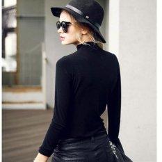 Áo giữ nhiệt cổ ba phân thời trang ấm áp (Đen)