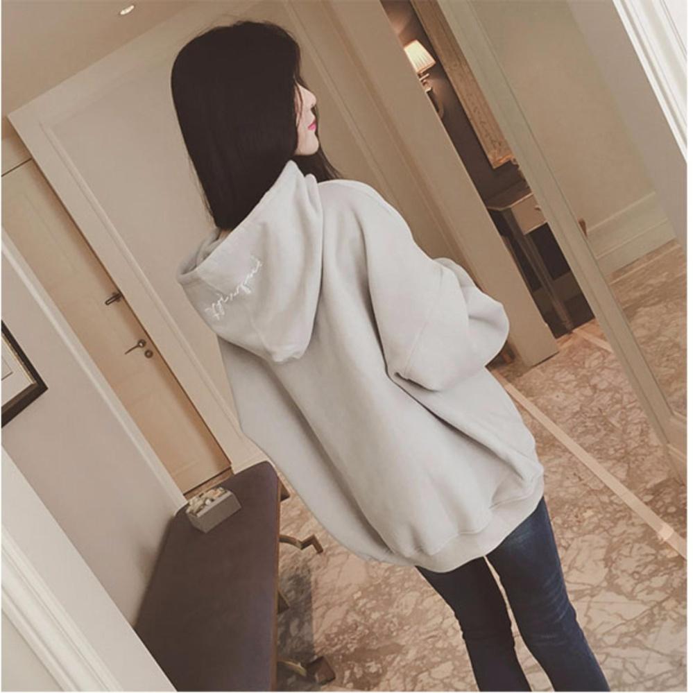Áo hoodie nữ phong cách Hàn Quốc H&H 1985 HH1837 (Màu xám)