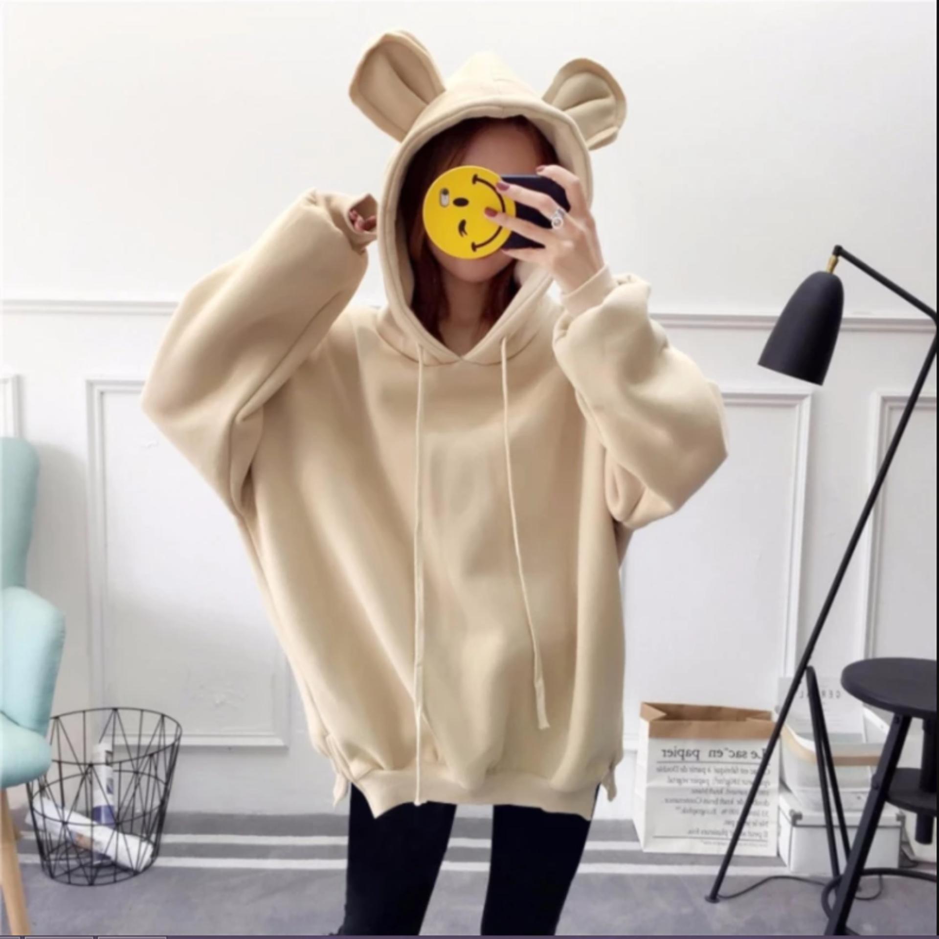 Nơi Bán Áo hoodie tai gấu siêu cute dành cho bé