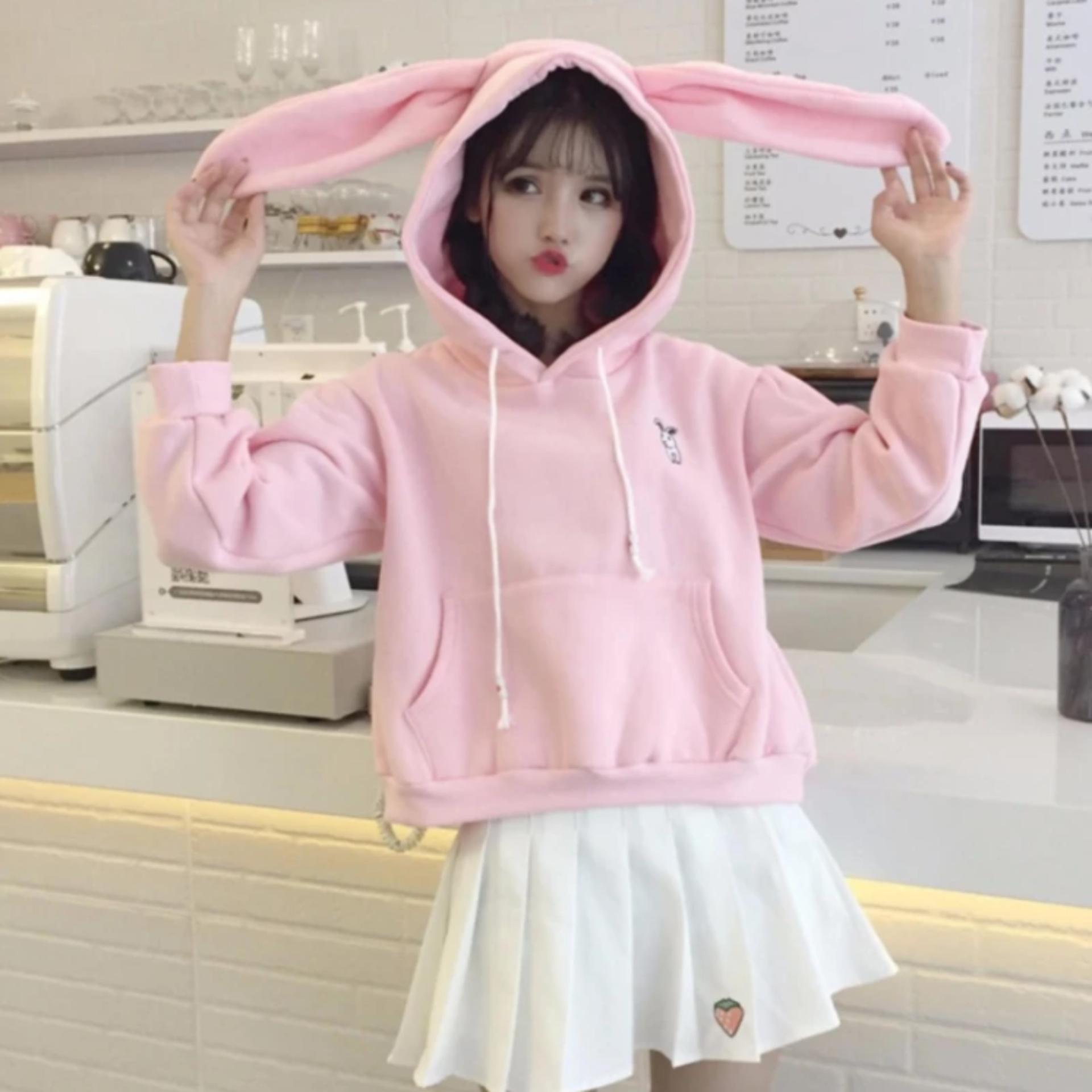 Giá Sốc Áo hoodie tai thỏ siêu cute giành cho bé