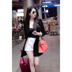 Áo khoác blazer form dài giống ngọc trinh MÀU ĐEN TTVN-VK09150