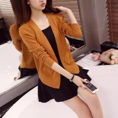 Áo khoác cardigan dáng ngắn IT509-Nâu