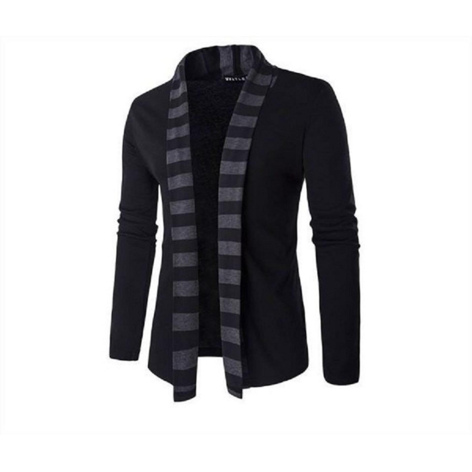 Áo khoác cardigan nam form dài