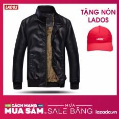 Áo khoác da lót lông cao cấp TẶNG nón LADOS-01