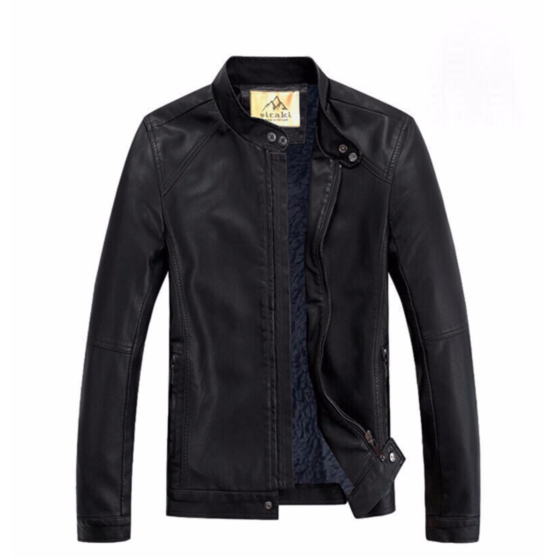 Áo khoác da nam lót lông cao cấp AKD30