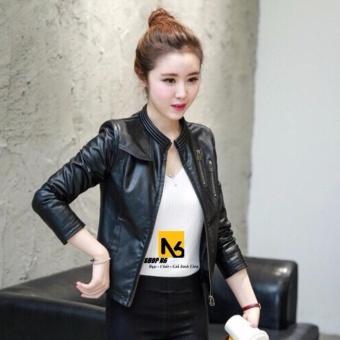 Cách mua Áo Khoác Da Nữ Down Zipper Đen Cao Cấp – DN15