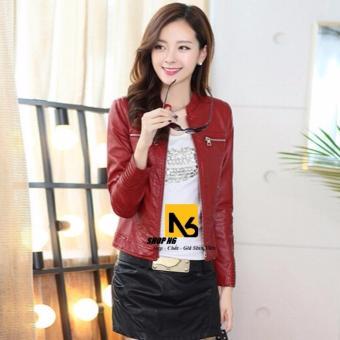 Chi tiết sản phẩm Áo Khoác Da Nữ Lily Đỏ Phối Tay Vân – ZN12