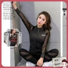 Áo khoác thể thao nữ Power – Cửa hàng phân phối KIT Sport – Hàng nội địa Trung(đồ tập quần áo gym,mẫu dài, thể dục,thể hình, áo ngoài, Yoga, Aerobic,Zumba Fitness)