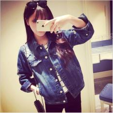 Áo khoác jean nữ cao bồi nhập khẩu ZAVANS denim01 (Xanh Đậm)