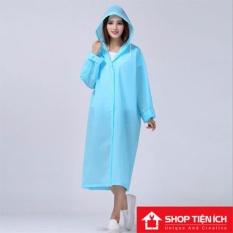 Áo khoác đi mưa kiểu dáng MangTo Chất Liệu EVA (xanh dương)