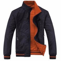 Áo khoác dù nam 2 lớp 2 mặt cao cấp ( Đen cam)