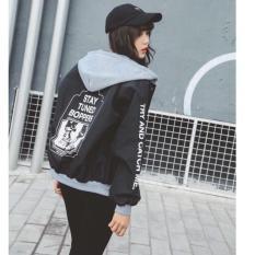 Áo khoác dù thời trang cá tính mạnh PKSR B033 (Đen)