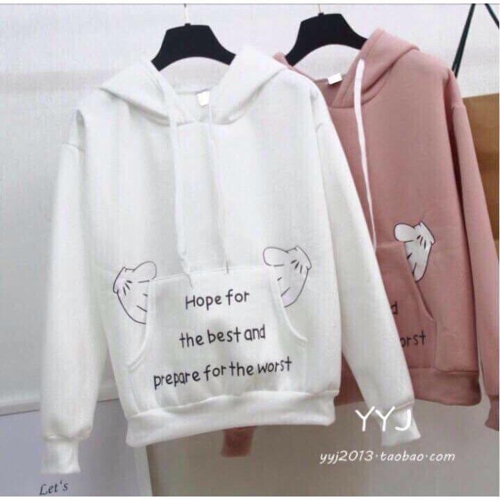 Áo khoác hoodie Hevi thời trang nữ tay gấu cute (nhiều màu)
