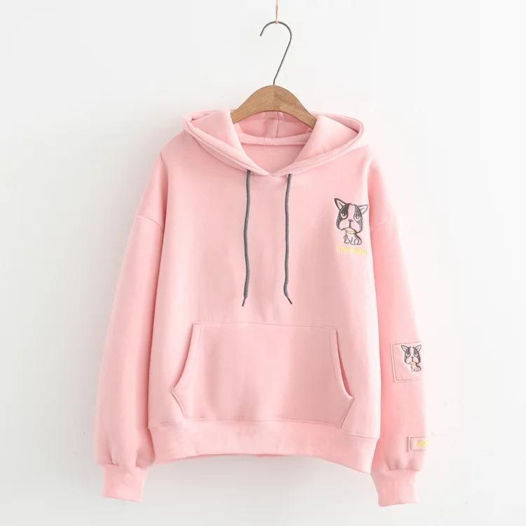 Áo khoác hoodie Hevi thời trang nữ hình cún cute (nhiều màu)