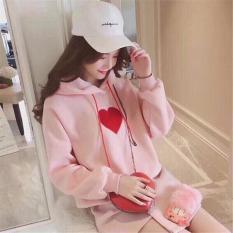 Áo khoác hoodie nữ trái tim hạnh phúc siêu đẹp KF53