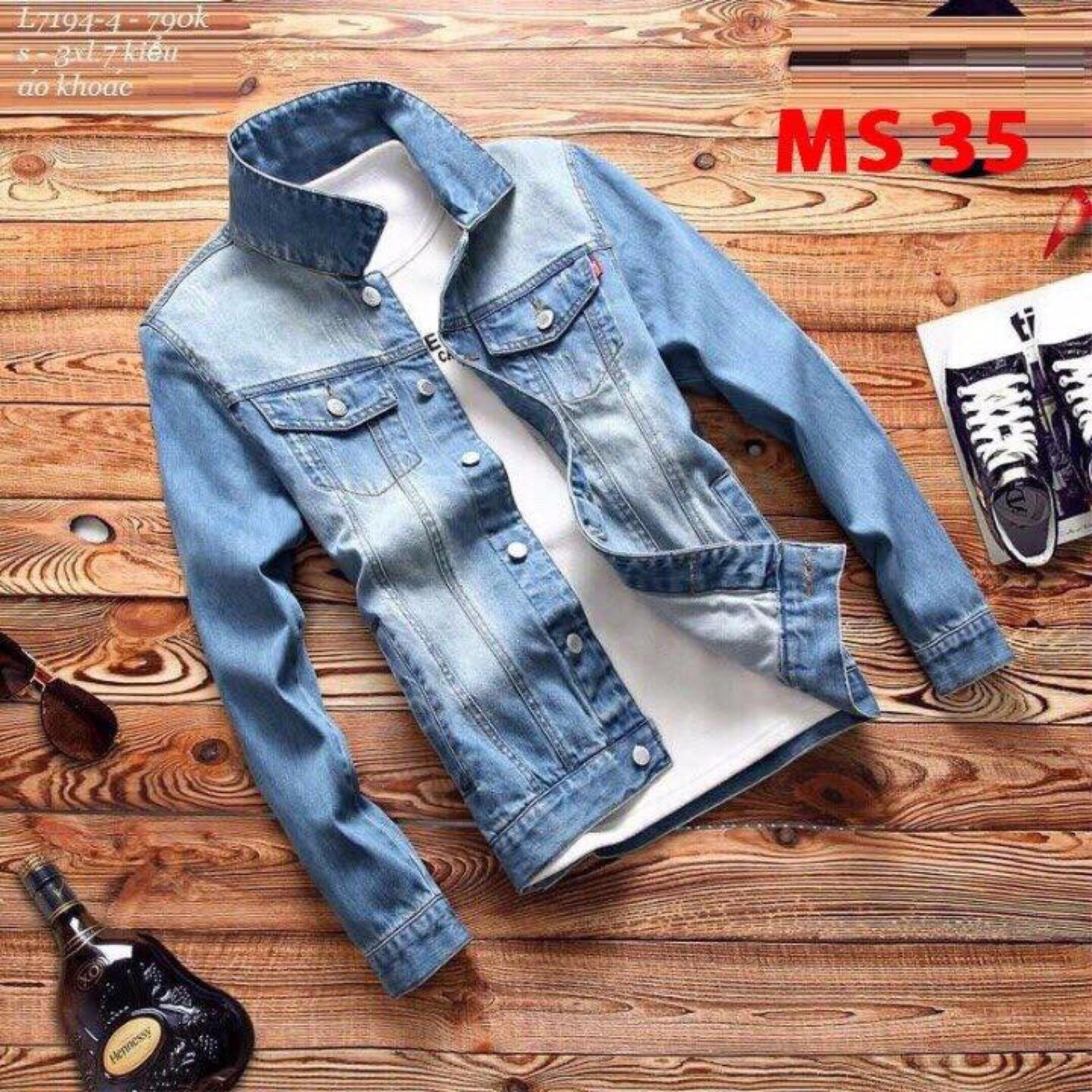 áo khoác jean nam cao cấp (xanh) phong cách trẻ LuLy Fashion