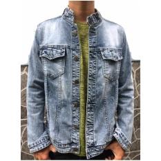 Áo Khoác Jean Nam – Denim Cổ Tròn – Denim Jacket 002