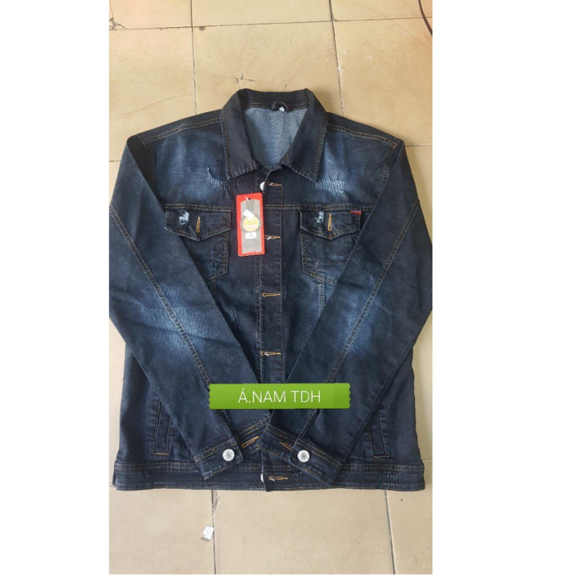 Áo Khoác Jeans Nam Co Giãn - Denim Jacket 001 ( Xanh Đậm)