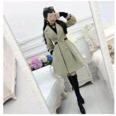Áo Khoác Kaki Form Dài Hàn Quốc Hana Fashion