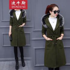 Áo Khoác Kaki Form Dài Hàn Quốc Lông Thú Hana Fashion