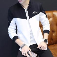 Áo khoác kaki nam 2 lớp phối màu RX hàn quốc LB FASHION ( vai đen )