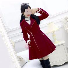 Áo Khoác Kaki Nữ Form Dài Hàn Quốc Phối Dây Kéo Hana Fashion