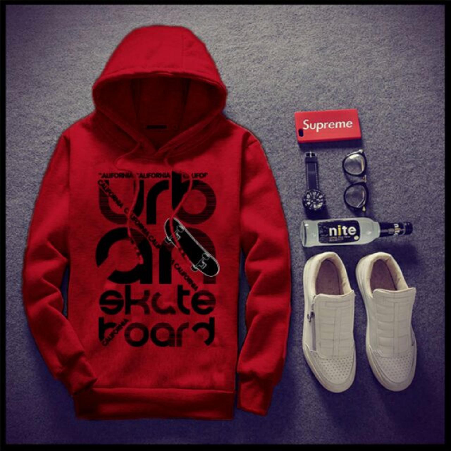 Áo Khoác nam hoodie URBAN[Đỏ]