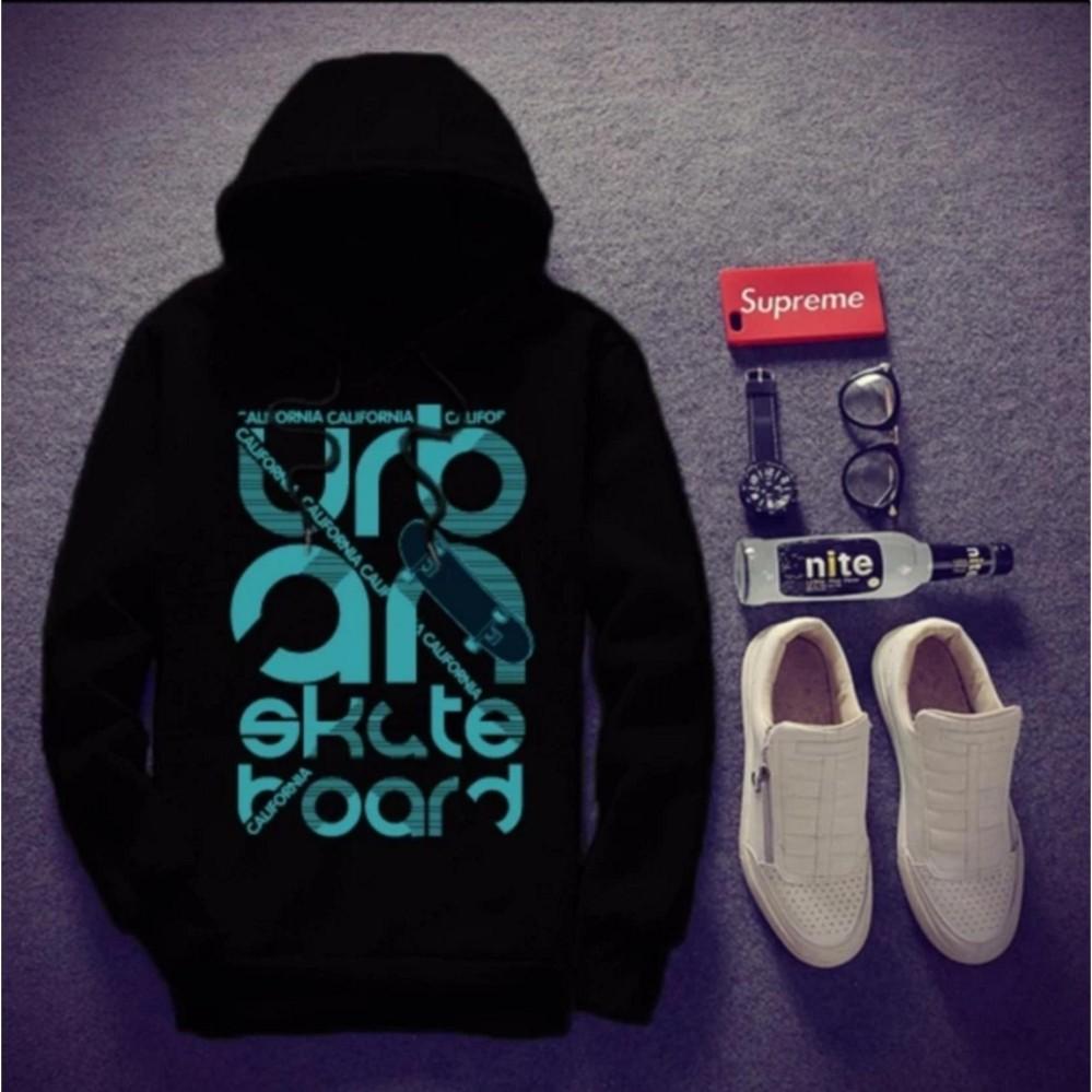 áo Khoác nam hoodie URBAN[màu đen] loại font rộng mặc vừa trên thị trường xuất hiện nhiều loại áo font nhỏ cùng loại các bạn mặc không vừa