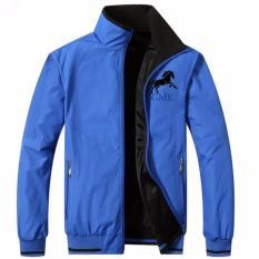 áo khoác nam mặt 2 bên GKJ011(ĐEN-Xanh)